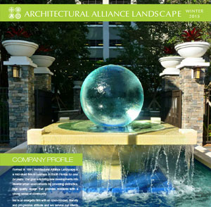Architectural Alliance Landscape Winter Brochure 2015